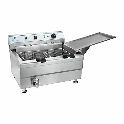 INOX FRITEUSE GRANDE CAPACITE DOUBLE PANIER MACHINE CHURROS CHICHIS 9kW 30L 380V