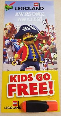 Lego Legoland Windsor & Discovery Centre Kids Go Free Voucher Ticket Entry