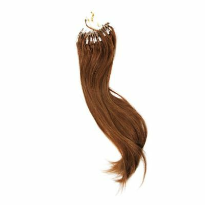 "2X( 16 "" Hair Extensions Easy Loop mini Anneaux Perles Tipped 100s / pc 40g G2O4"