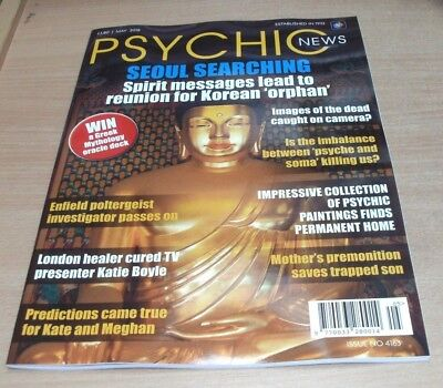Psychic News magazine MAY 2018 Enfield Poltergeist, Dead on Camera? Psyche &Soma