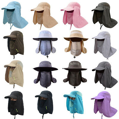 b35e54c58af Neck Cover Ear Flap Hat Summer UV Sun Protection Fishing Cap Outdoor Hiking  Hat