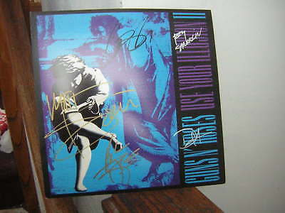 Guns N Roses Signed Promo Flat Use Of Illusion Two 1991 X5 Axl Slash