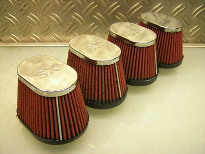 "4x RACING CAFE-RACER AIR FILTER OFFENE LUFTFILTER FJ1200 FJ1100 ""K&N STYLE"""