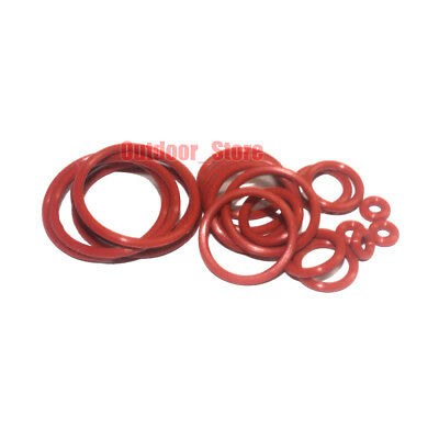 20pcs Red Food Grade Silicone O-Ring Sealing ring ( Line diameter:2.0mm)