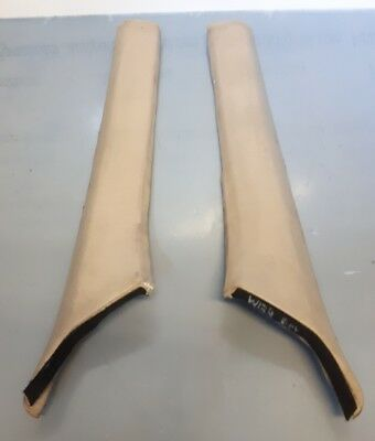 Mercedes E class W124 Coupe beige A pillar trims oem 1246922389 1246922489#ua1.4