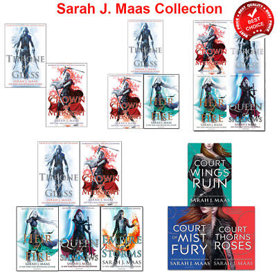 Sarah J.Maas collection Throne Of Glass & Court of Thorns and Roses Series Books