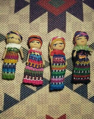 handmade guatamalan worry dolls set of 4