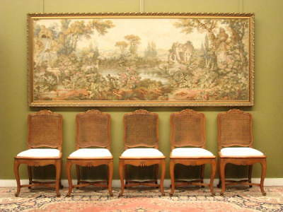 LARGE 2.7m GILT FRAMED MULTI COLOURED TAPESTRY PICTURE ~ SUIT FRENCH, ANTIQUES.