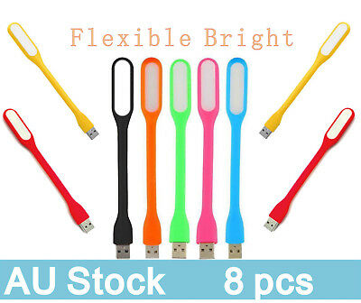 USB Light Mini LED For Keyboard Laptop Camping Bendable and Flexible AU Stock 8X