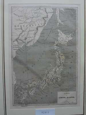 92911-Asien-Asia-Japan-Nippon-Nihon-Karte Map-T Holzstich-Wood engraving