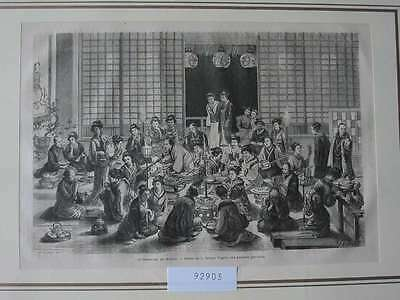 92903-Asien-Asia-Japan-Nippon-Nihon-Theater-Restaurant-T Holzstich-engraving