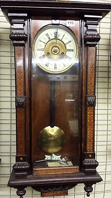 Antique Vintage 8 day Hall/Wall Clock Period Pendulum Decorative
