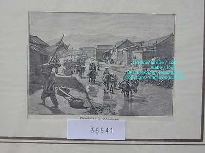 36541-Asien-Asia-China-Schantuna-T Holzstich-Wood engraving-1898