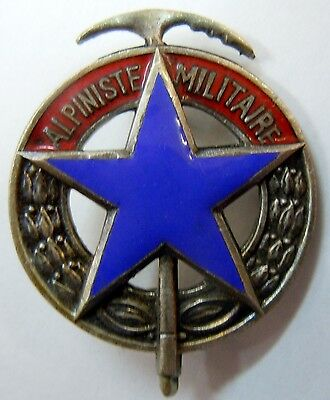 Veritable Insigne Brevet Alpiniste Militaire Armee Montagne Chasseurs Alpin A.b.