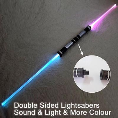 (2 pieces/lot) Star Wars Lightsaber Sound and Light Double Bladed Ultra Saber