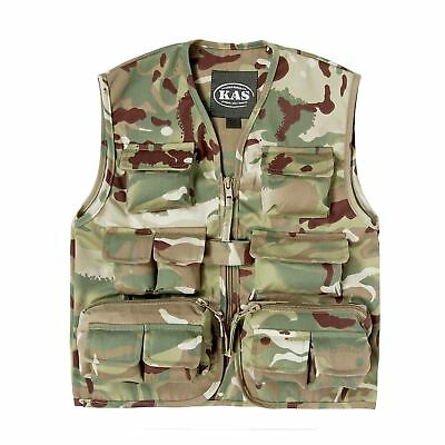 Kas Boys Army Soldier Fancy Dress Multi Terrain Kids Camo Assault Vest
