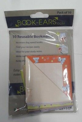 Pack of 10 Reusable Bookmarks