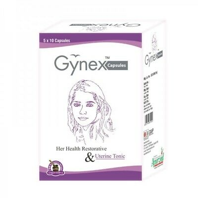 Gynex Capsules Leucorrhea Vaginal Discharge Herbal Treatment Free Int'l Shipping