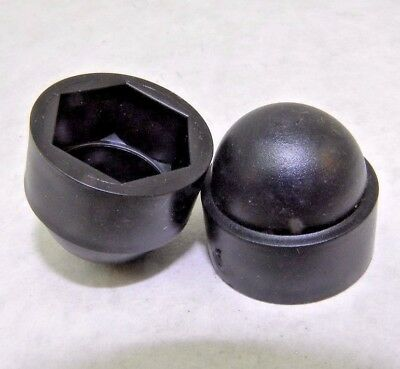 """New! 7/16"""" Press On Plastic Hex Nut Caps Protection Dome Cover Bolt Lug Acorn Nh"""