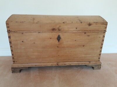 Gorgeous Antique Pine Domed Top Trunk/Chest in Great Condition
