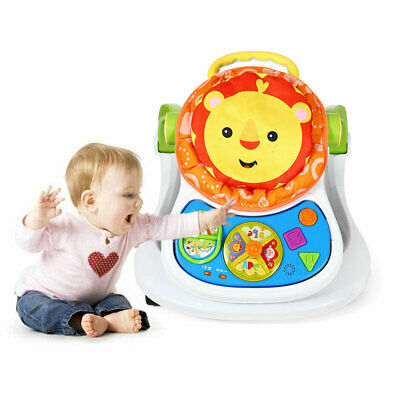4 In 1 Baby Walker First Steps Activity Musical PLay&Feed Station With Light UK