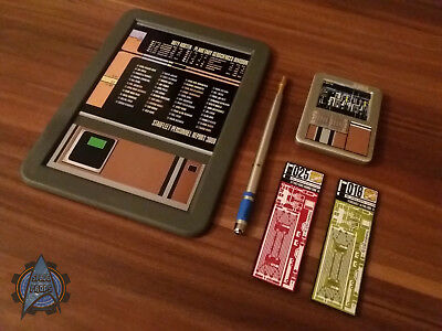 Star Trek Replica Prop Padd + Zubehör / Equipment / Fanartikel