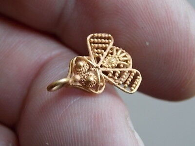 Rare ancient graeco - roman high ct gold open work BEE 100 BC-100 AD dectecting