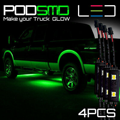 Neon Green Under Car Accent Underbody Led Glow Rock Lights