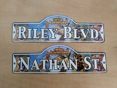 """Personalized """"Wild Adventure"""" Street Signs Lot of 1635 Water & Theme Park"""