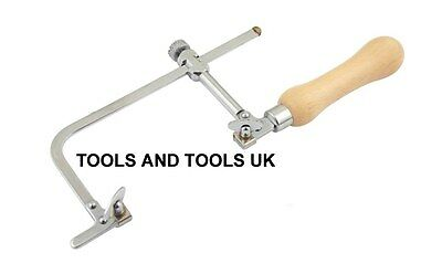 JEWELLER PIERCING SAW FRAME 70 mm JEWELLERS HAND TOOL ADJUSTABLE+ FREE 12 BLADES