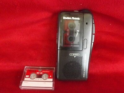 Radio Shack Micro-21 Microcassette Recorder Black 2 Speed