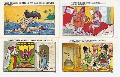 "4 x ""Quip"" Comic Postcards inc. Keep Going Mr. Hampton"