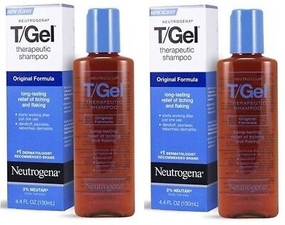 Neutrogena T-Gel Shampoo Original Formula Therapeutic Shampoo 2 Bottle Pack