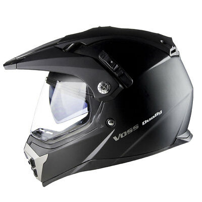 Voss 600 Dually Dual Sport Helmet DOT quick release eyeshade oval head shape