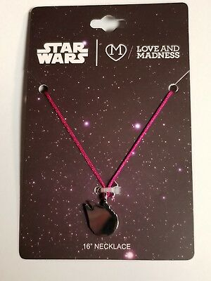 """star wars millennium falcon love and madness 16"""" necklace new free s&h"""