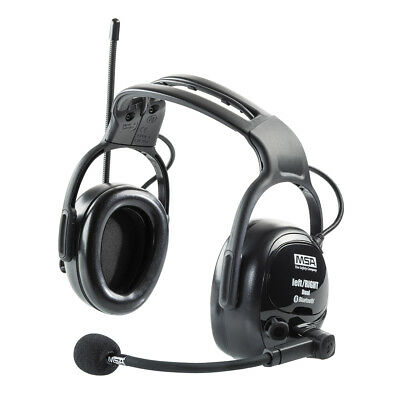 MSA Acoustic Earmuffs, LeftRight WW Dual, with Aux Input, Bluetooth, FM Radio