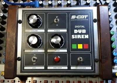Trigger synth: S-Cat digital DUB siren effect with power supply. Made in England