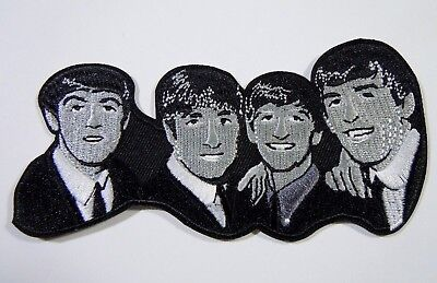 The BEATLES-Famous Pose Embroidered Iron-On Patch - 4.5""