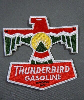 THUNDERBIRD GASOLINE Embroidered Iron On Uniform-Jacket Patch 3""