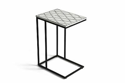 Steve Silver Marino Chairside Table With Gray and White Finish MR100SS