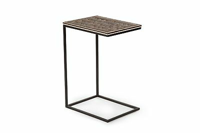 Steve Silver Wilma Chairside Table With Bone Resin Finish WM100SS