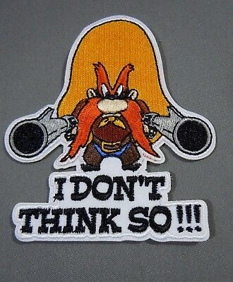 """YOSEMITE SAM w/6 Shooters #2 Embroidered Iron-On Patch - 3"""" Warner Bros."""