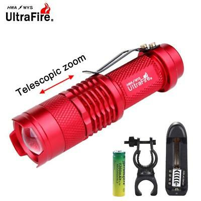 Q5 6000 LM LED Torch Zoom Bicycle Light +14500 Battery +US 3.7v Charger DA