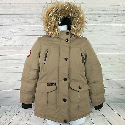 Canada Weather Gear Mens Triple Goose Parka Brown Jacket Size M MEDIUM