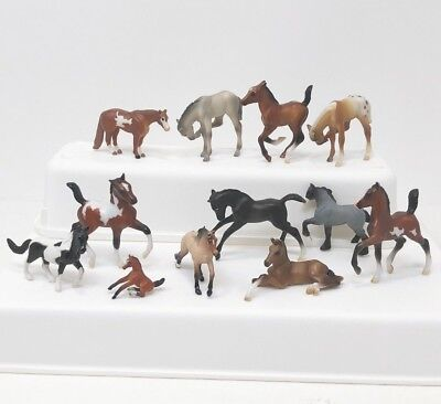 Breyer Mini Whinnies Lot of 11 Horses & Foal 1in to 2.25in tall