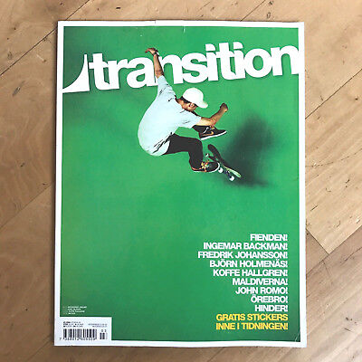 Transition Swedish Skateboard Magazine June 2008 Koffe Hallgren Cover Rare