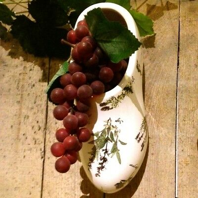 Flower Box - Wooden Shoe Ceramic, potherbs, Planting for the Balcony