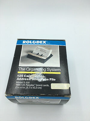 "Rolodex S-300 Petite Card Address Open File Holds 2.25"" x 4"" Cards"