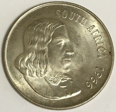 1966 South Africa 1 Rand Silver Coin KM#71.1 (L547)