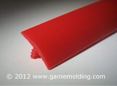 30 FT 3/4 INCH Bright Red T-Molding (Arcades,Mame,Tables,Cabinets) FAST SHIP!